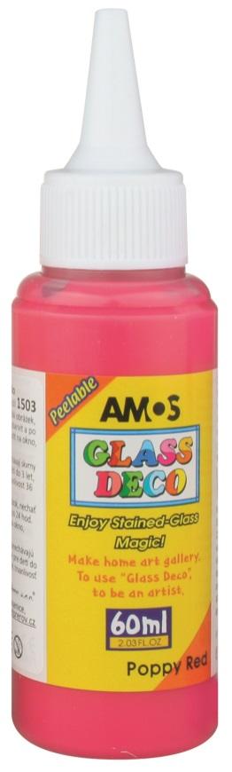 Barvy na skleněné plochy 60 ml - 4. ČERVENÁ