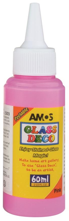 Barvy na skleněné plochy 60 ml - 5. RŮŽOVÁ