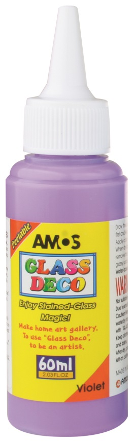 Barvy na skleněné plochy 60 ml - 7. FIALOVÁ