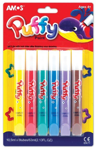 Puffy - nafukovací barvy  6 x 10,5 ml (1508)