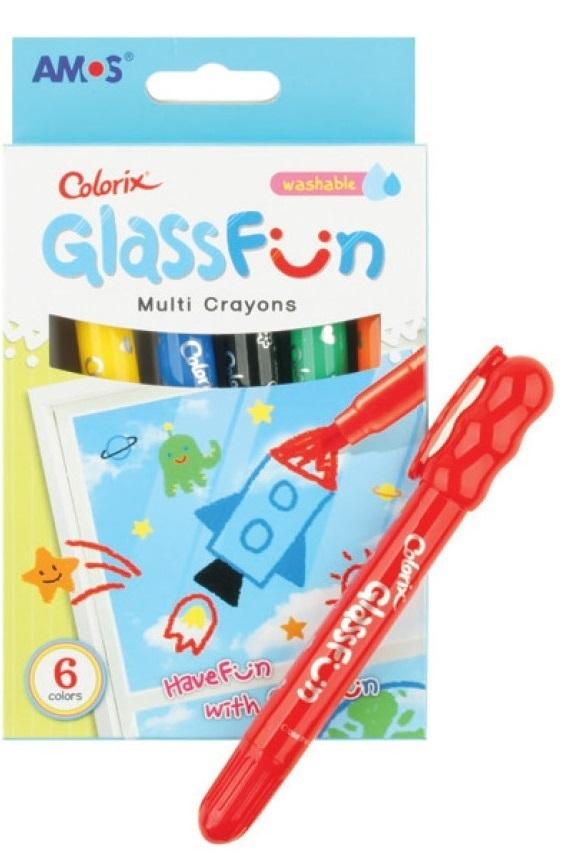 Barvy na skleněné plochy Glass Fun 6, smývatelné