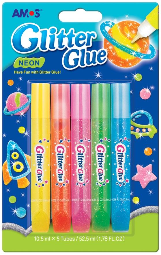Lepidlo glitrové  neon 5 x 10,5 ml