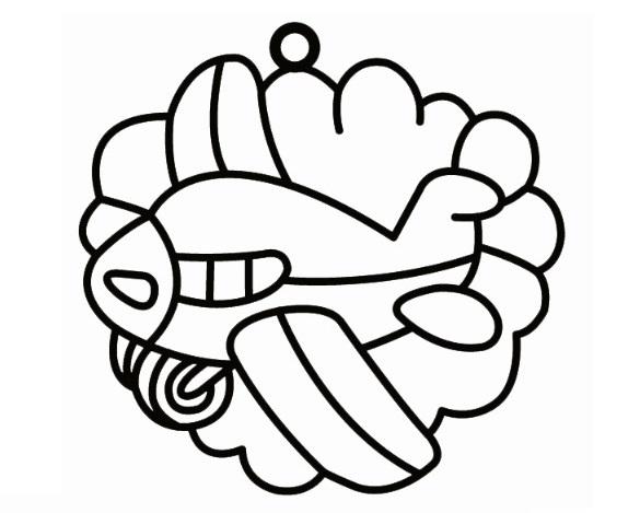 Sklíčka závěsná - 20. LETADLO PŘED MRAKEM (1590-01)