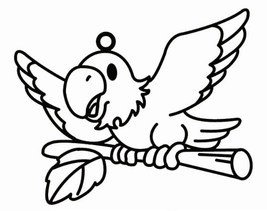 Sklíčka závěsná - 27. PAPOUŠEK (1590-01)