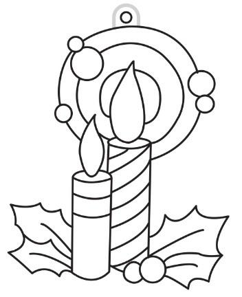 Sklíčka závěsná - 41. SVÍČKA (1590-01)