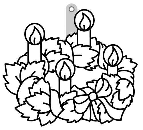 Sklíčka závěsná - 45. ADVENTNÍ VĚNEC