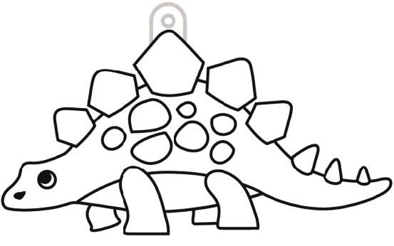 Sklíčka závěsná - 51. STEGOSAURUS
