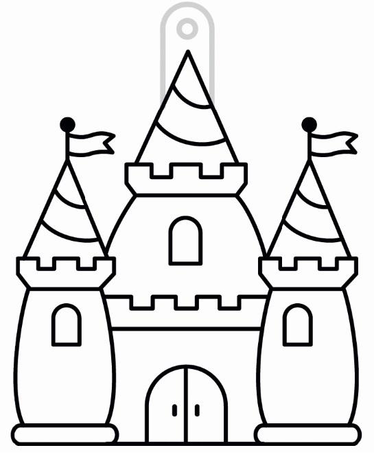 Sklíčka závěsná - 56. HRAD (1590-01)