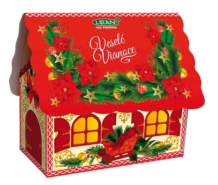 Vánoční balení bílého čaje DOMEČEK červený, 20 x 2 g (17016)