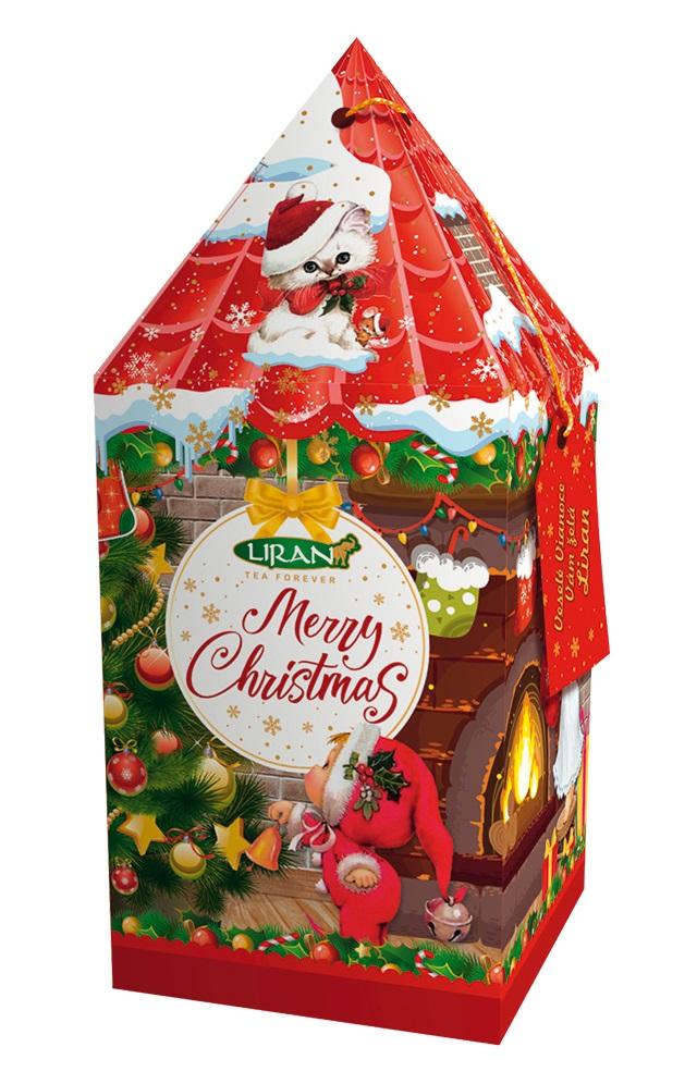 Vánoční balení černého čaje VĚŽ červená, 20 x 2 g (17017)