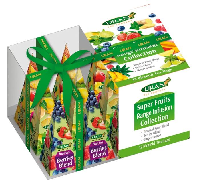 Dárkové balení ovocných čajů v pyramidkách, 12x2 g (17024)