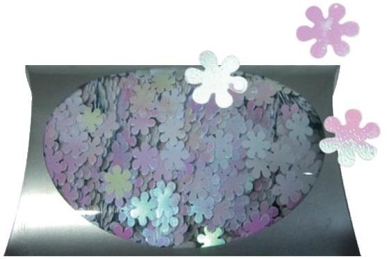 Konfety květinky  duhové v krabičce 20g