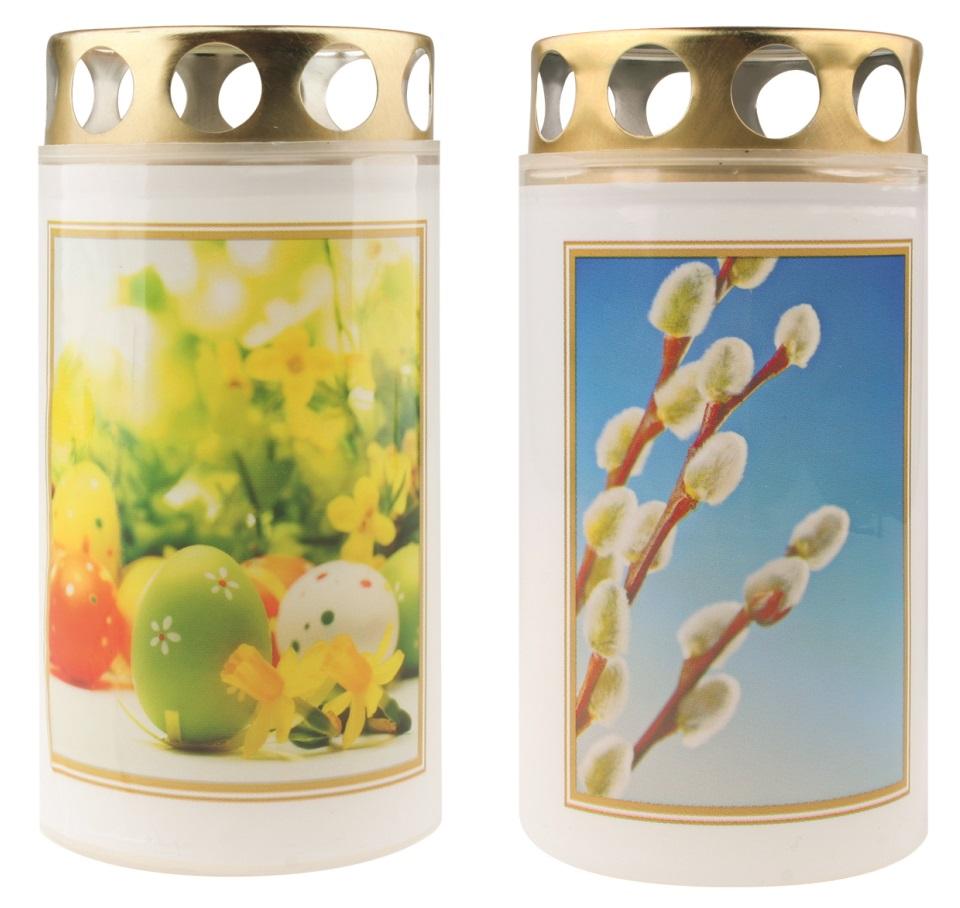 Hřbitovní svíčka 100 g s víčkem, Velikonoční