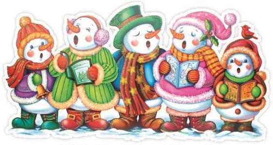 Fólie na okna pruh zpívající sněhuláci 43x22cm (207)
