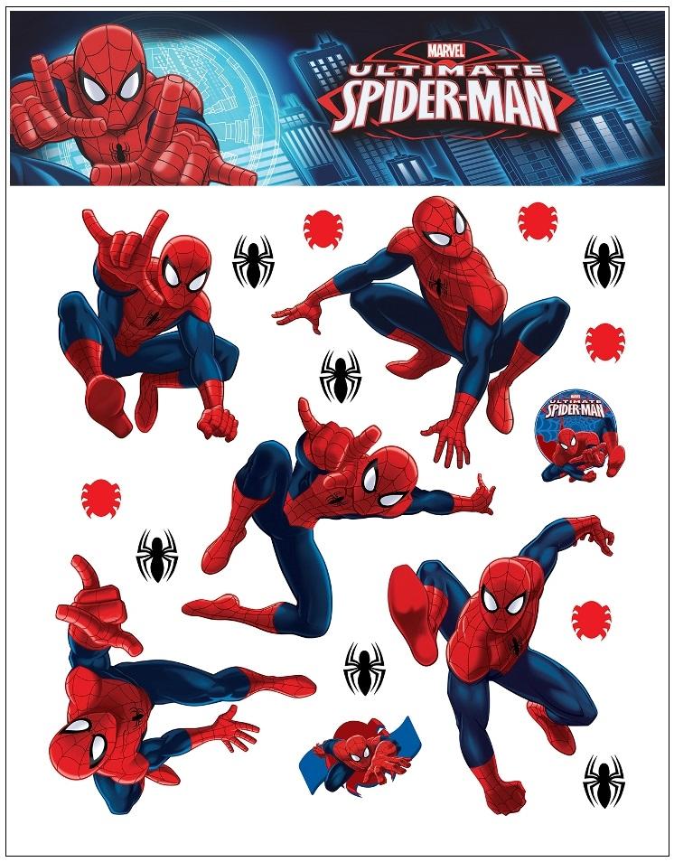 Samolepky na stěnu Marvel Spiderman 30x30cm