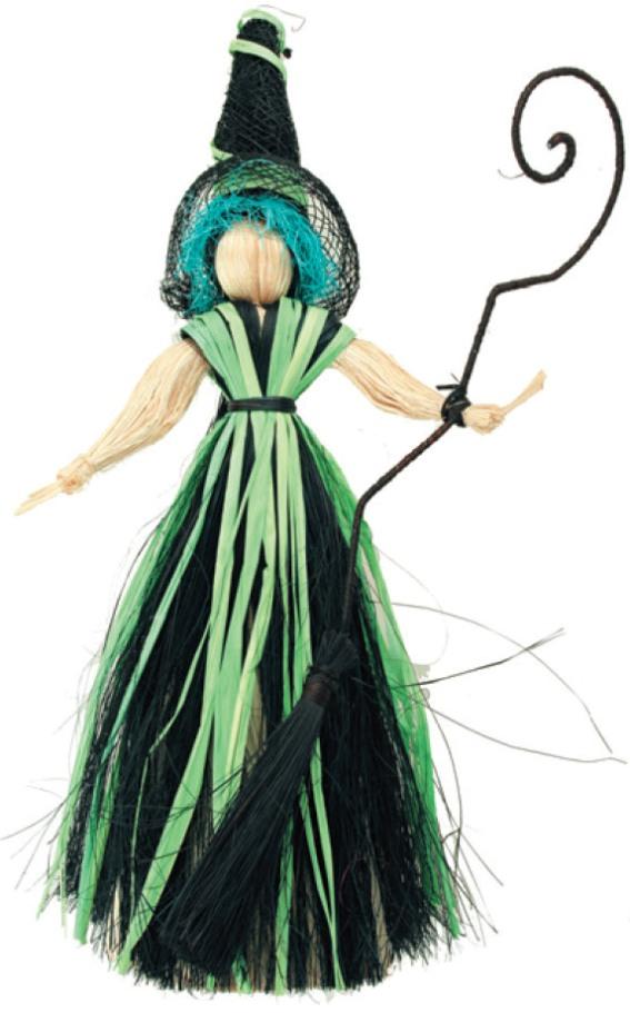 Čarodějnice s modrými vlasy 20cm 2463