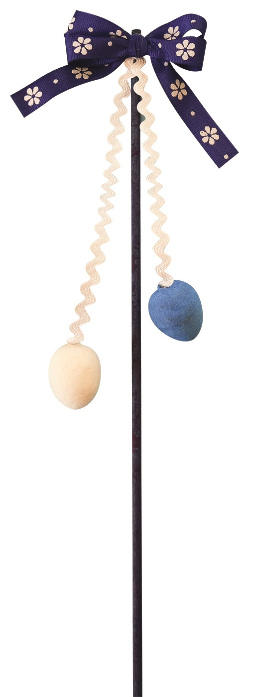 Pomlázka dekorační 21 cm 7 - TMAVĚ  MODRÁ