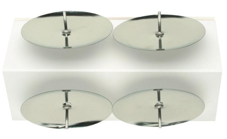 Bodce na svíčky stříbrné 4ks v sáčku, 5cm