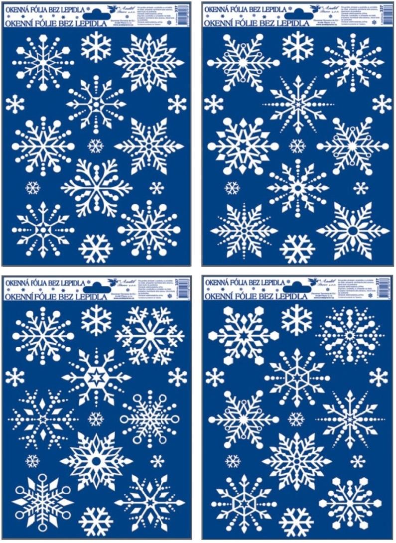 Fólie na okna vločky se sněhovým efektem 3D,27x20cm (337) (337)