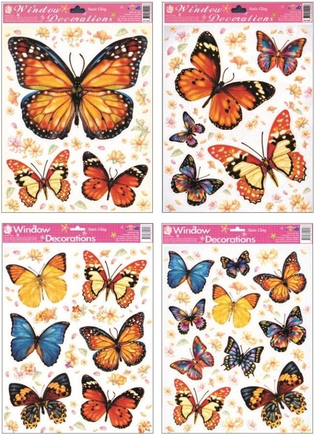 Fólie na okna motýlci 27x20 cm (356)