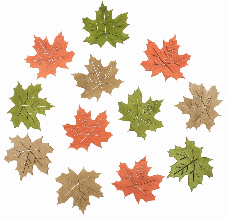 Listy dřevěné 4 cm, 12 ks (3831)