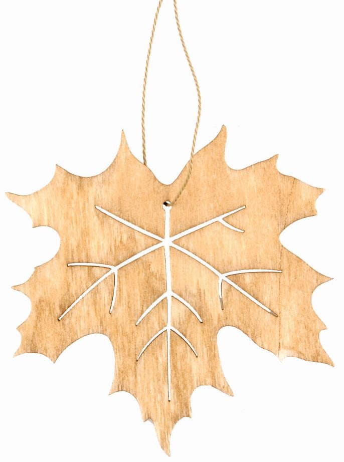 List dřevěný  na zavěšení světle hnědý 10 cm (3883)