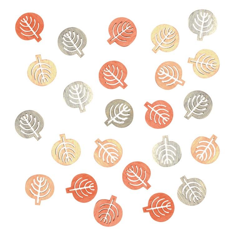 Listy dřevěné přírodní barvy 2 cm, 24 ks (4000)