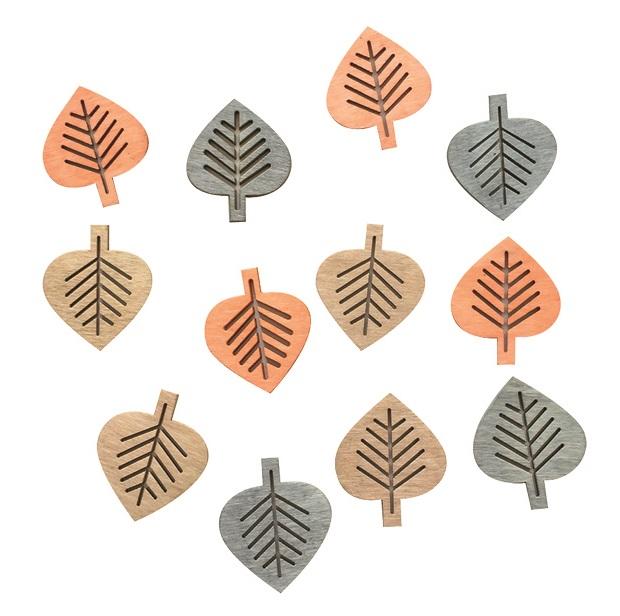Listy dřevěné přírodní 4 cm, 12  ks (4004)