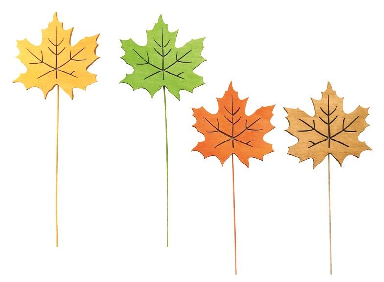 List dřevěný  8 cm + drátek