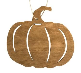 Dýně dřevěná závěsná 10 cm, světle hnědá (4012)