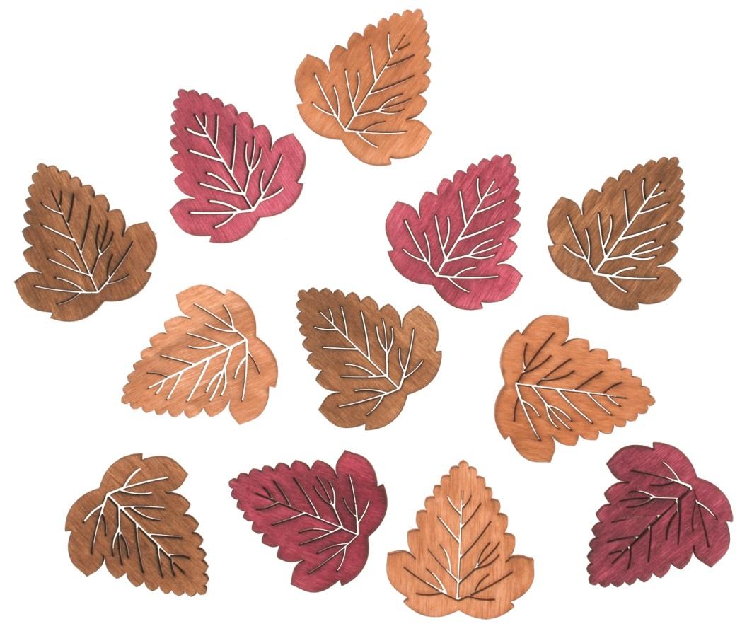 Listy dřevěné 4 cm, 12 ks (4217)
