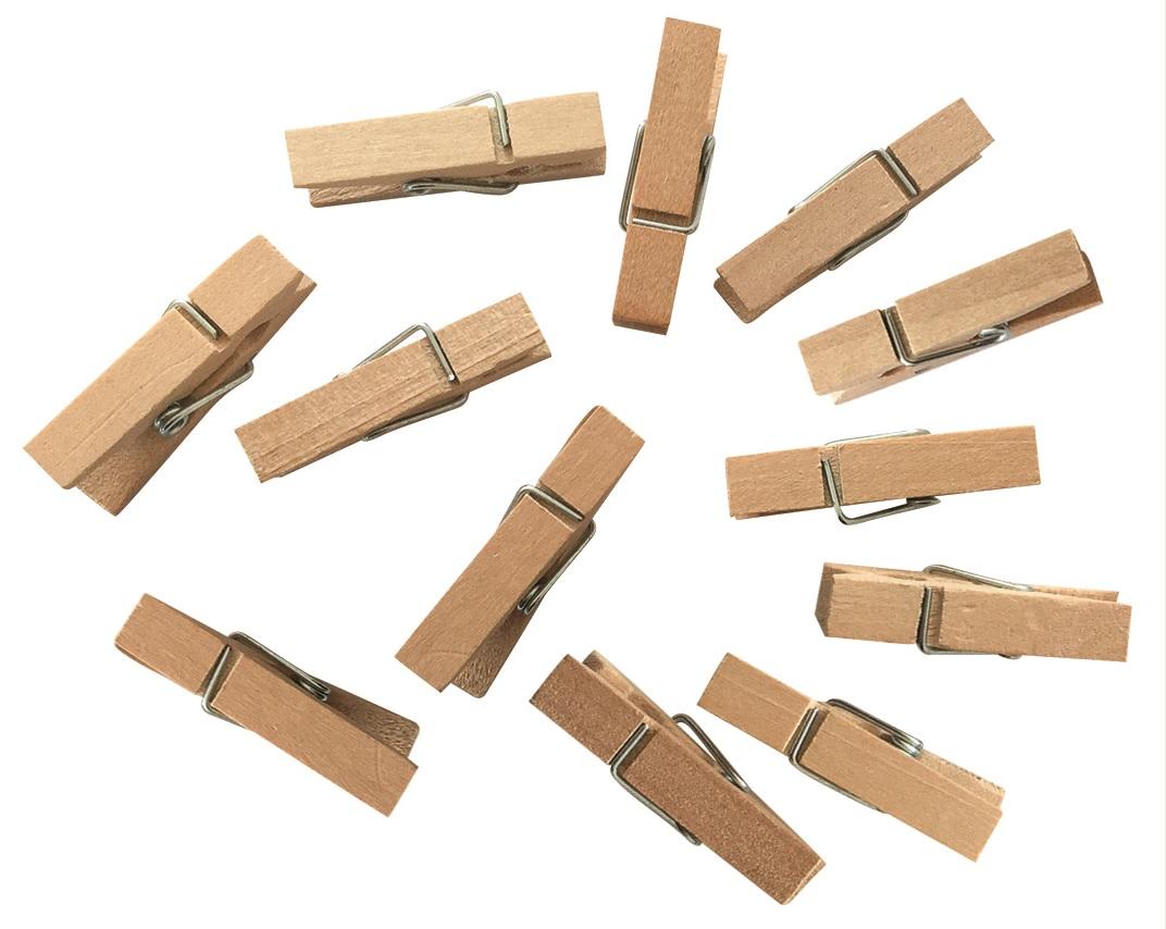 Kolíčky dřevěné 3,5 cm, 12 ks