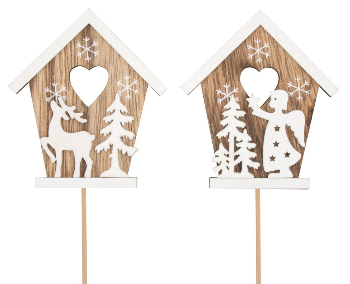 Domek dřevěný 8 cm + špejle