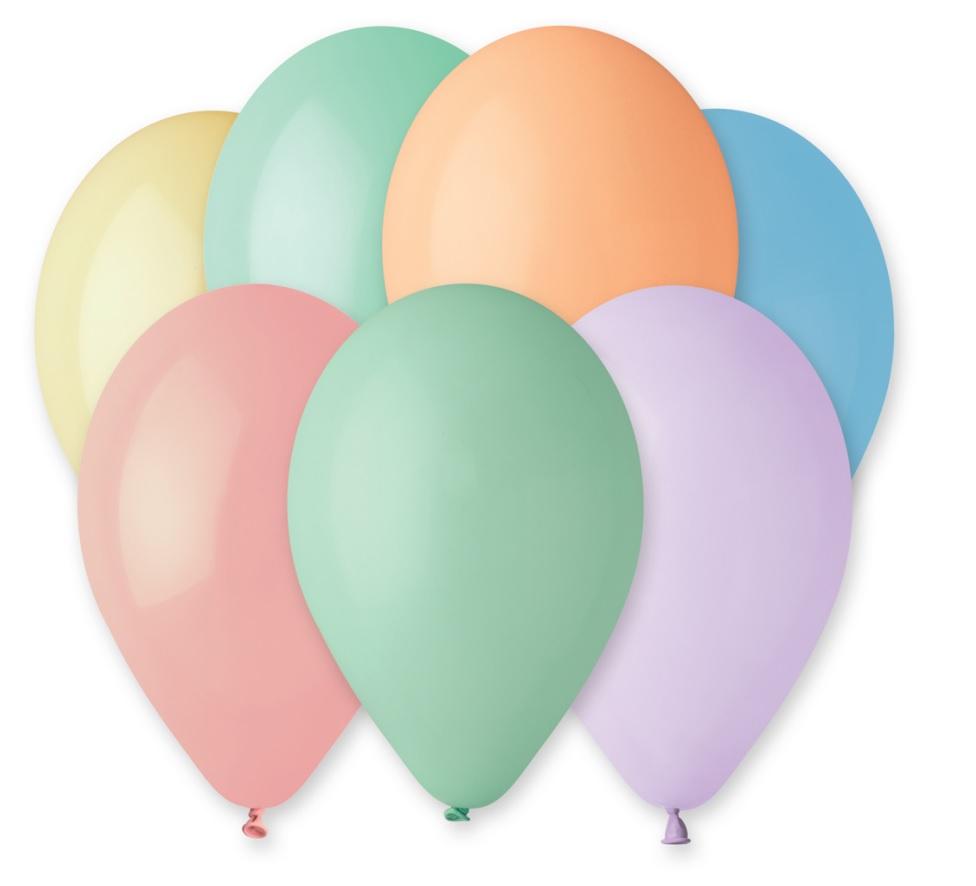 Balónky makronky, 26 cm, 10 ks v balení, mix barev