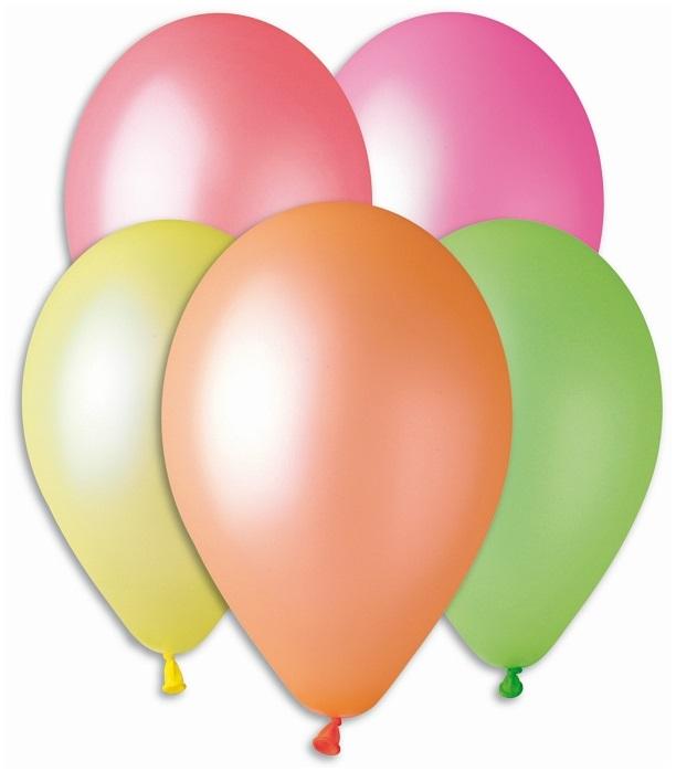 Balónky neonové, 26 cm, 100 ks v balení, mix barev