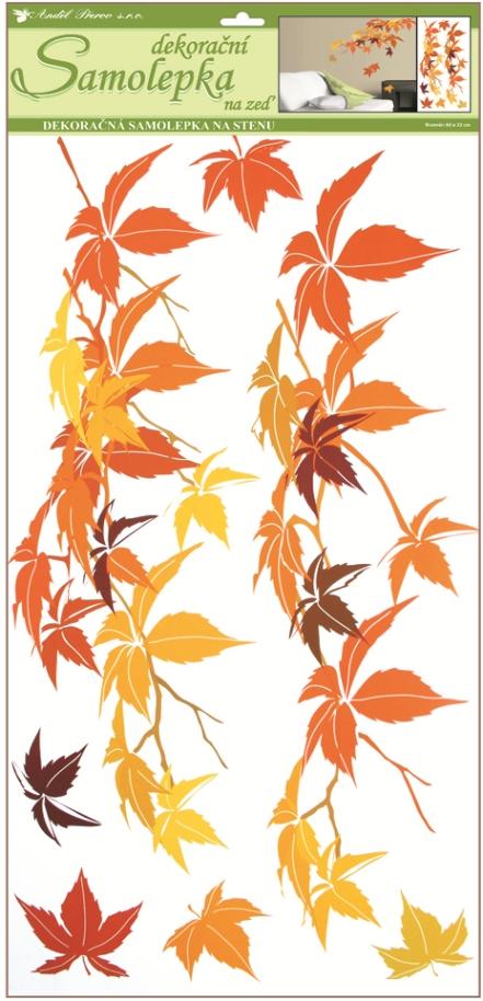 Samolepky na stěnu listí podzimní 60x32 cm