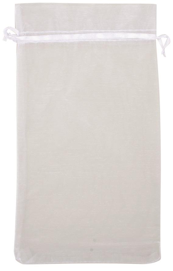 Organzový pytlík bílý 15x27 cm