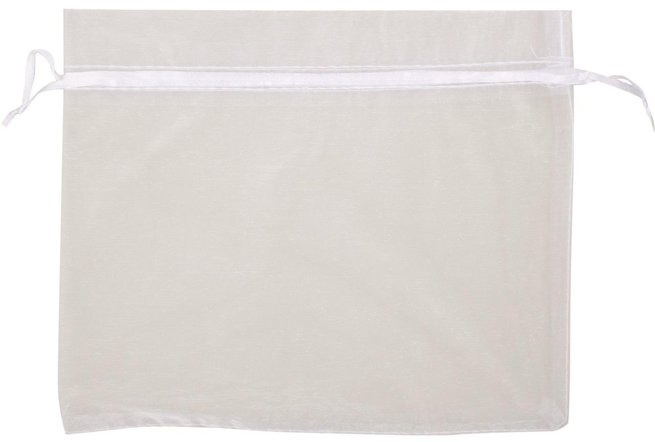 Organzový pytlík bílý 24x20 cm