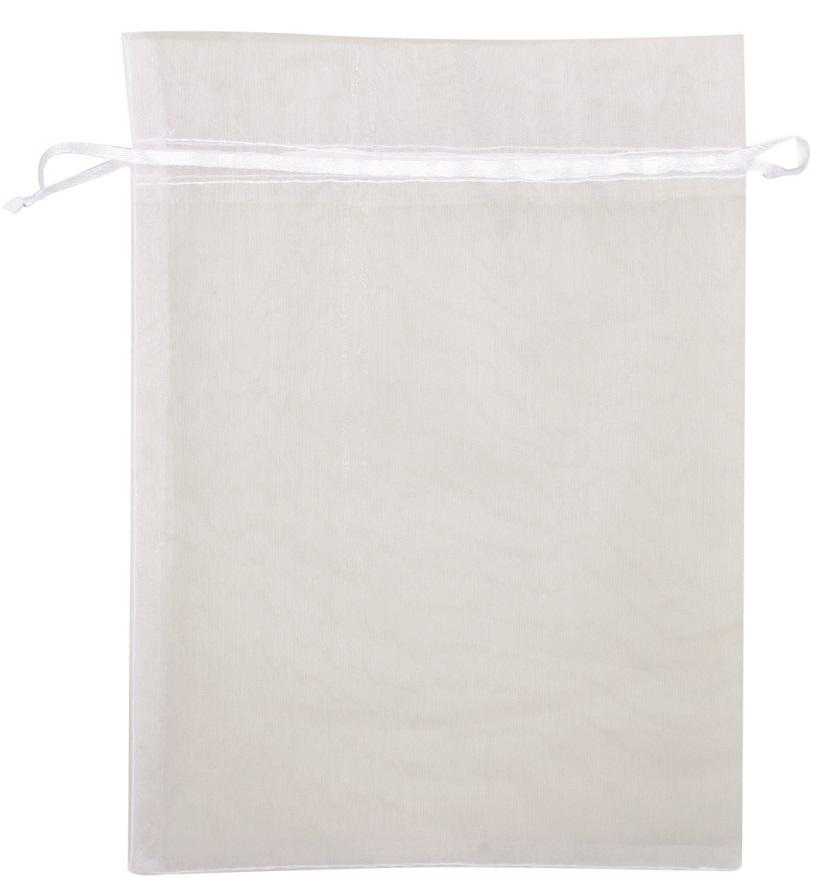 Organzový pytlík bílý 25x35 cm