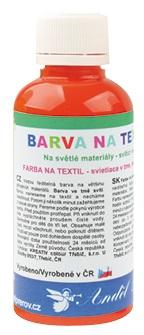 Barvy na textil 50g 2. ORANŽOVÁ (6101-02)