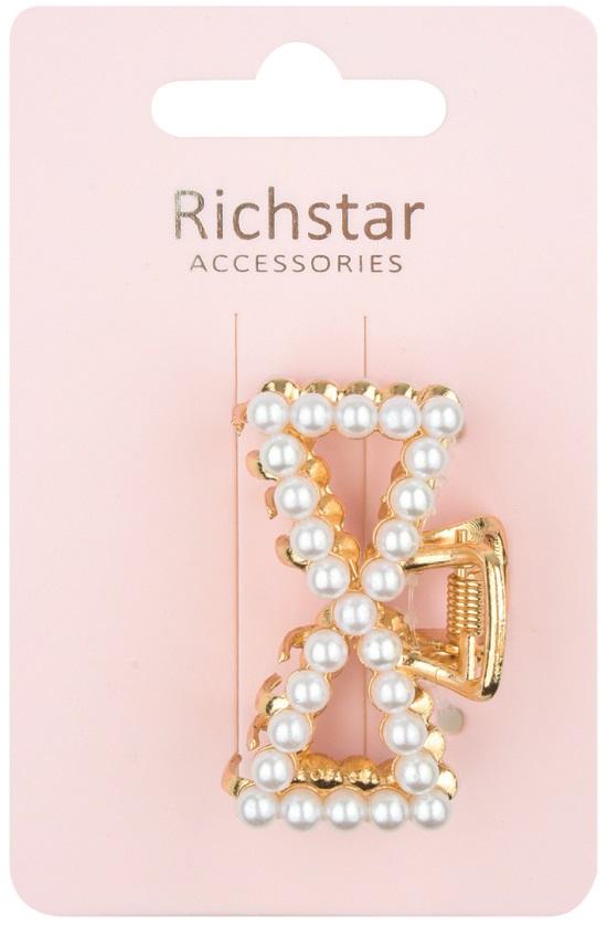 Skřipec zlatý s bílými perličkami 5 cm