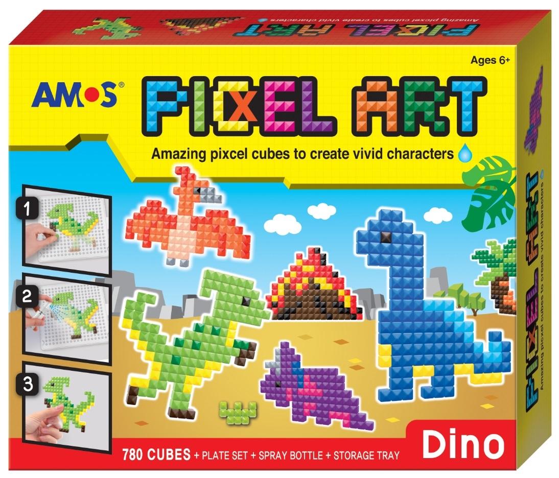 Sada korálková bez žehlení PIXCEL Dino 24x20 cm