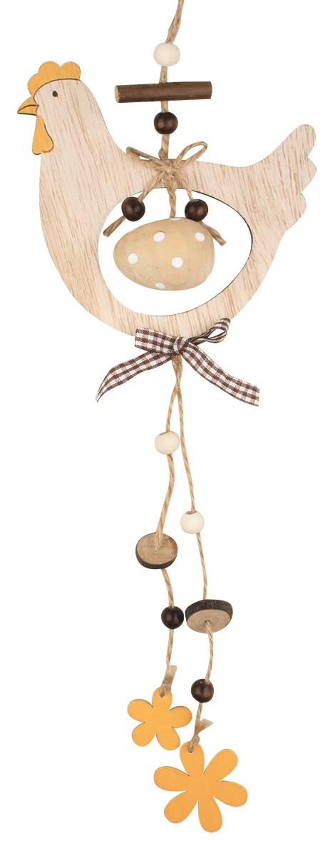 Slepička dřevěná závěsná 32 cm