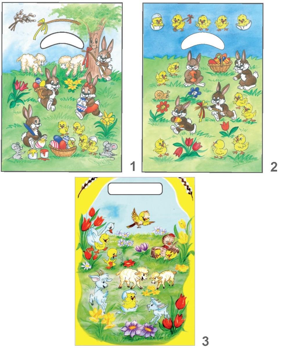 Igelitová taška velikonoční 32 x 20 x 4 cm (763)