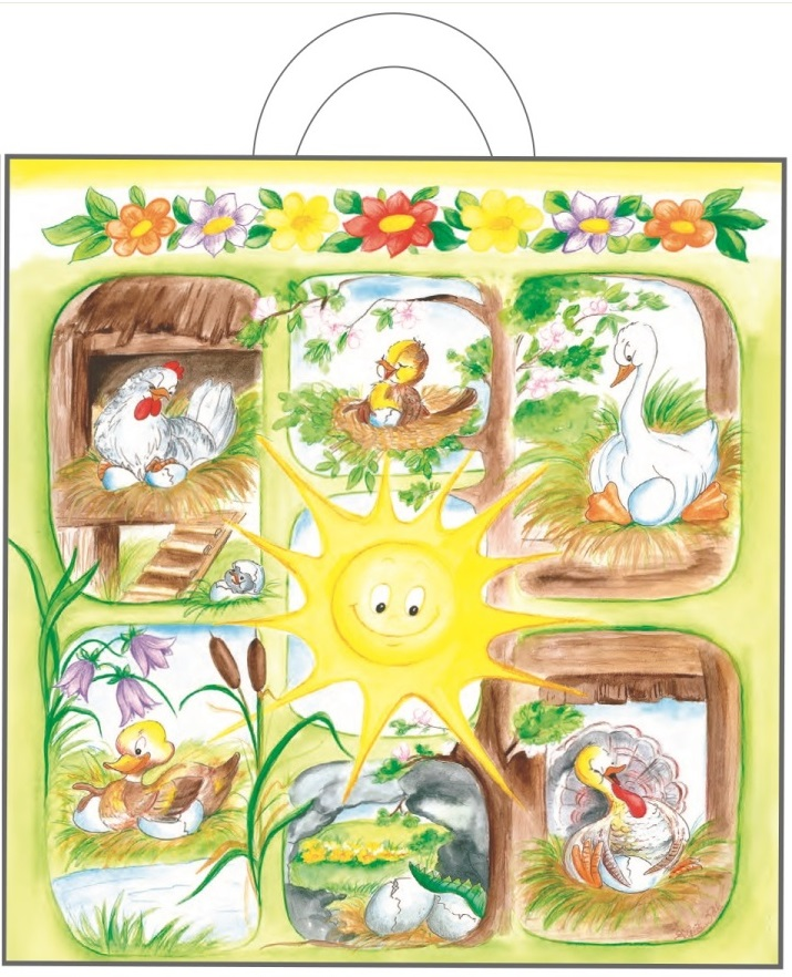 Igelitová taška s uchem 48 x 45 x 6 cm - 1. Sluníčko se zvířátky (765-01)