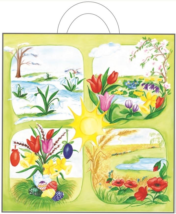 Igelitová taška s uchem 48 x 45 x 6 cm - 2. Jarní květiny (765-02)