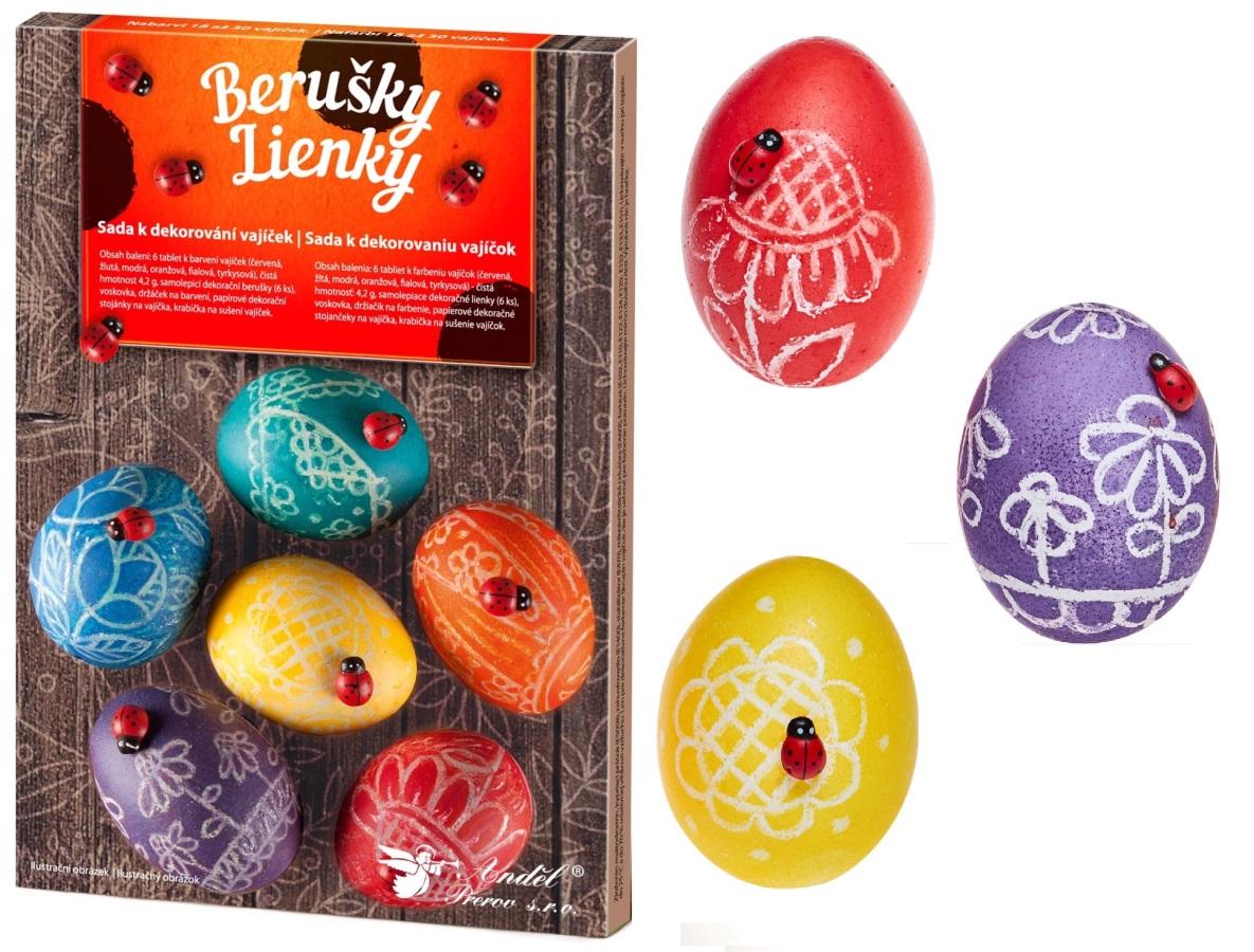 Sada k dekorování vajíček - berušky