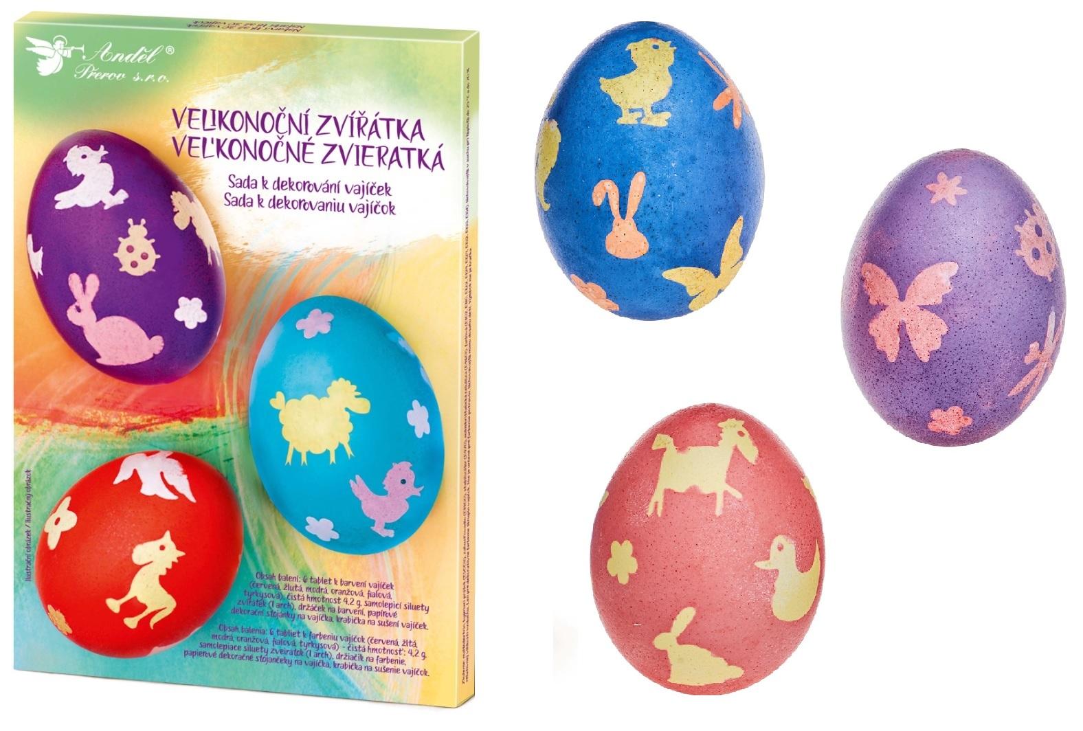 Sada k dekorování vajíček - velikonoční zvířátka