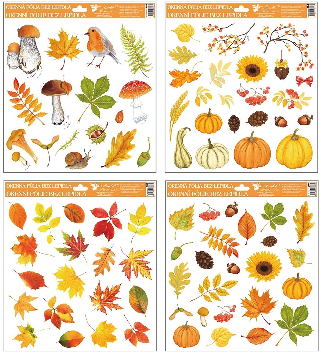 Fólie na okna podzim 30x30 cm (804)