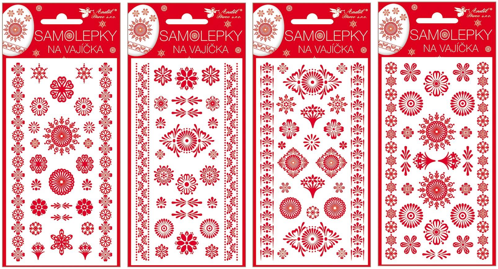 Samolepky velikonoční gelové červené 19 x 9cm